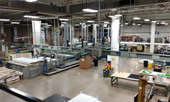 Production floor at Modernistic Printing