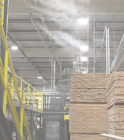 Controlling moisture in wood for short adhesive curing time mobile image