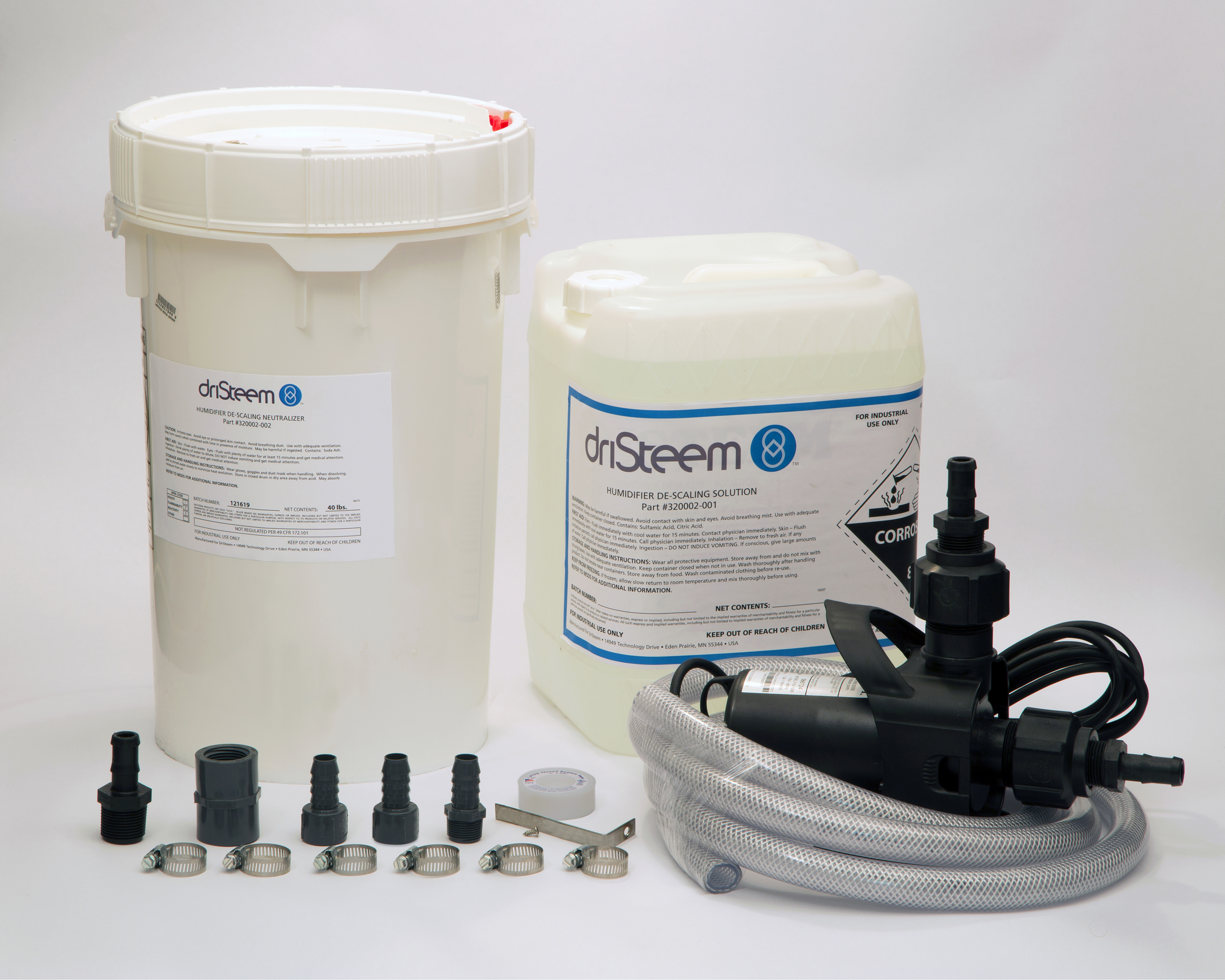 Humidifier de-scaling solution and pump kit  main image
